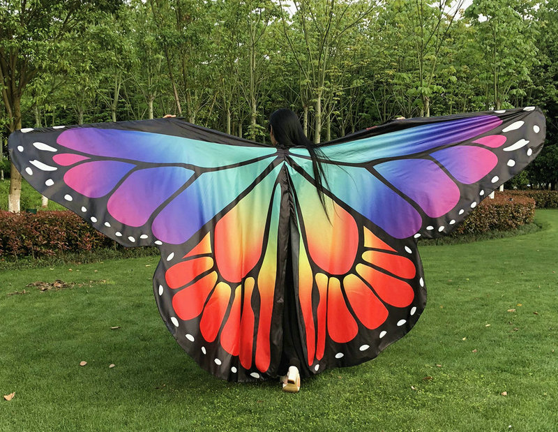 Adult Dance Wings Colorful Butterfly Opening Wings Belly Dance Isis Wings Split Wings ( No Sticks )