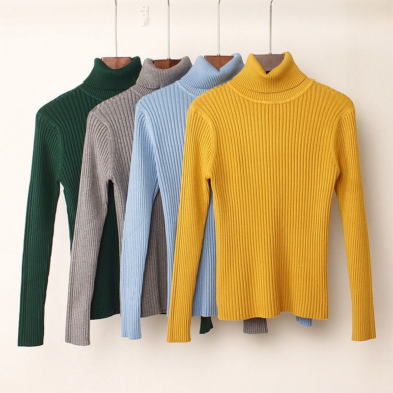 GIGOGOU Thick Turtleneck Warm Women Sweater Autumn Winter Knitted Femme Pull High Elasticity Soft Female Pullovers Sweater(China)