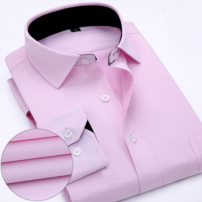 2016 Lelaki Formal Dress Shirt Spring New High Quality Cotton Long - Pakaian lelaki - Foto 5