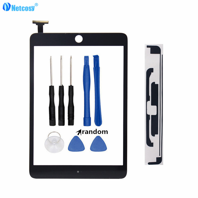 Netcosy Tablet Touch panel For ipad mini A1432 A1454 A1455 A1489 Touch screen digitizer without home button & Tapes & Tools