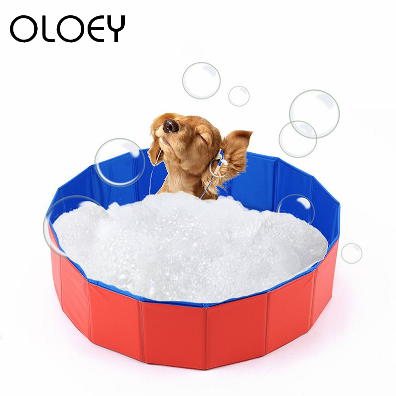 Foldable Pet Dog Cat Bathroom All Seasons Convenience Pet Playing Washing Pond For Small Dogs Cats Swimming Pool Bathing Tools