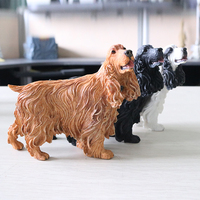 Cute Simulation Puppy Statue Spaniel English Cocker Spaniel Figurine Terriers Resin Sculpture Crafts Business Gifts L3441