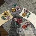 2017 Nuevas Mujeres Calcetines Calcetines Chica Marea Marca Manual de Gema Pequeñas Flores de Perforación de diamante Brillante Para El Filamento Del Tubo Corto Pila mujeres