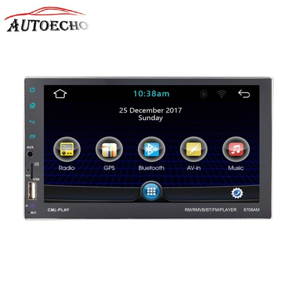 Android 7.1 GPS Navigation IOS Bluetooth Lien de Miroir de Téléphone 2DIN 7 ''Écran HD QUAD-core CD/DVD MP4/MP5 Player FM Wifi lanceur