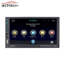 Android 7,1 gps навигации IOS Bluetooth телефон Зеркало Ссылка 2DIN 7 »HD Экран QUAD-core CD/DVD MP4/MP5 плеер FM Wi-Fi launcher