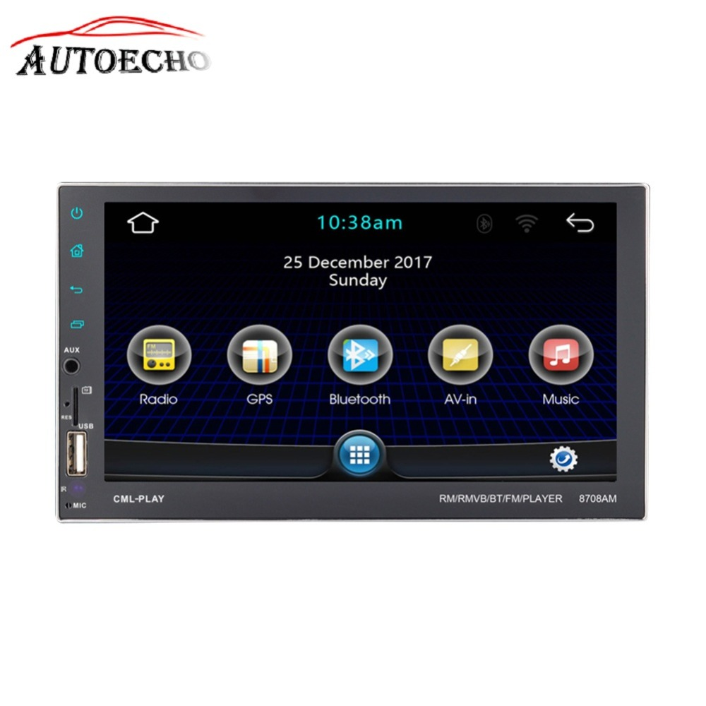 Android 7,1 gps навигации IOS Bluetooth телефон Зеркало Ссылка 2DIN 7 ''HD Экран QUAD-core CD/DVD MP4/MP5 плеер FM Wi-Fi launcher