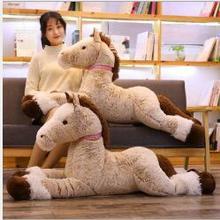 Wyzhy коричневый подушка с лошадью творческая плюшевая игрушка кукла ночники украшение в виде отправьте друзьям и подарки для детей 120 см