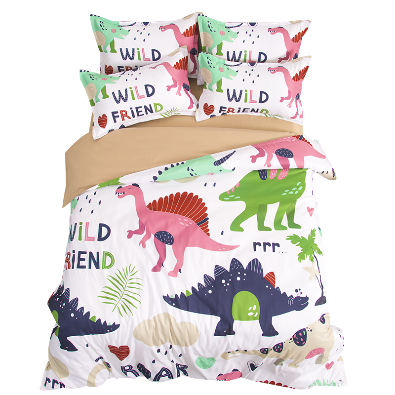 Cute Cartoon Dinosaur Kids Bedding Set Twin Queen King ...