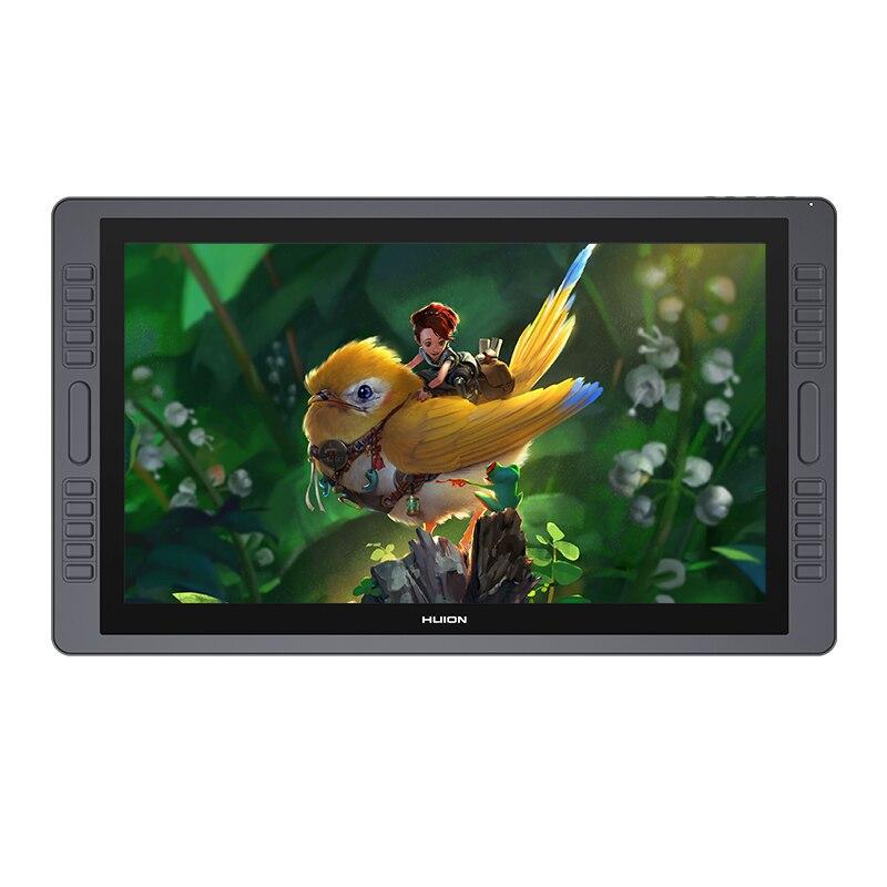 HUION KAMVAS GT-221 Pro 8192 niveles lápiz pantalla dibujo Tablet Monitor IPS LCD HD pantalla 10 teclas de presión-21,5 pulgadas