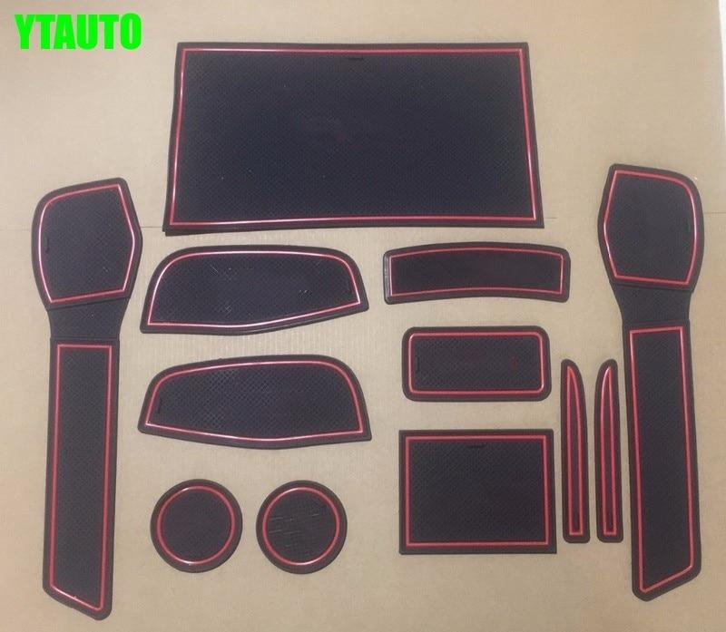 Non-slip auto Interior door gate pad cup mat for nissan qashqai j11 2014 2015 2016,12pcs/lot,car styling 2015 hot non slip interior door pad cup mat door gate slot mat for skoda octavia 8pcs lot auto accessories