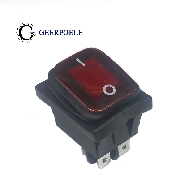 1pcs KCD4 Red LED Round 4 Pin DPST Snap-in ON/OFF Panel Mounting Waterproof Boat Rocker Switch 16A/250V High Quality Copper feet 5pcs lot 21 15mm spst 3pin snap in on off on position snap boat rocker switch 6a 250v high quality copper feet