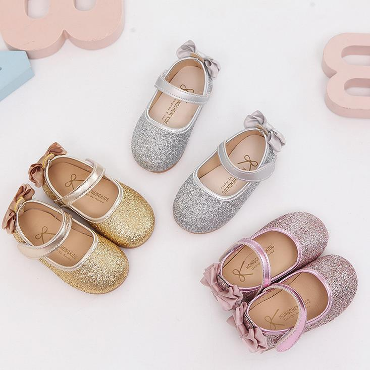HaoChengJiaDe Girls Shoes New Spring Autumn Brand Children Sequins Flat  Princess Dancing shoes For Baby Girls Kids Wedding shoes-in Sneakers from  Mother ... 27f36e6ce503