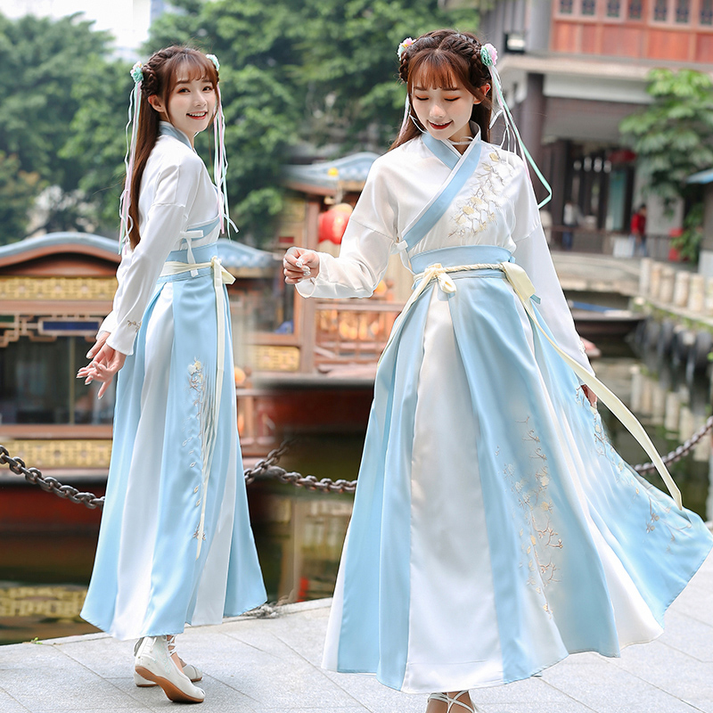 Women Ancient Fairy Dress Elegant Chinese Traditional Dance Clothing Tang Dynasty Hanfu Costume Tang Suit Cosplay For Stage