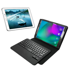 1x Screen Protector , Wireless Bluetooth 3.0 Detachable Keyboard Leather Stand Case Cover For Samsung Galaxy Tab A 9.7 T550 T551