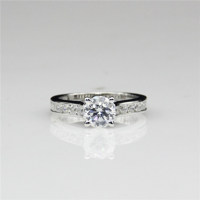 channel cut ring set rings oval engagement product test diamond