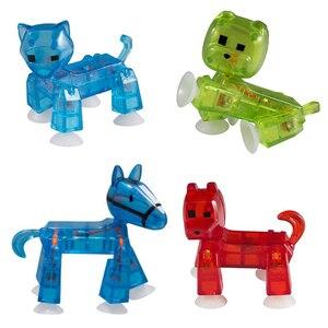 Image 5 - 20 sztuk/partia kolory losowo wysyłania śliczne przyklejony Robot Sucker przyssawka śmieszne ruchome zabawkowe figurki akcji