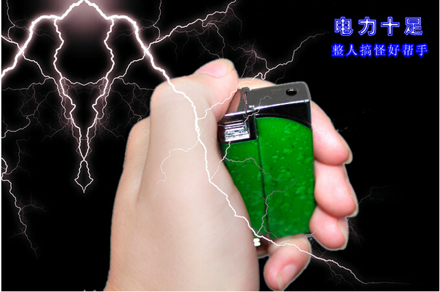New two way play Electric Shock Lighter - Shocking Practical Joke Prank toy gas lighter 10pieces/lot