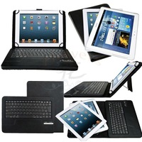 Universal Removable Wireless Bluetooth ABS Keyboard With Leather Case Stand For Nokia Lumia 2520 For Lenovo