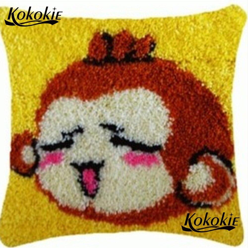 Latch Hook Rug Pillow Kits Cross Sch