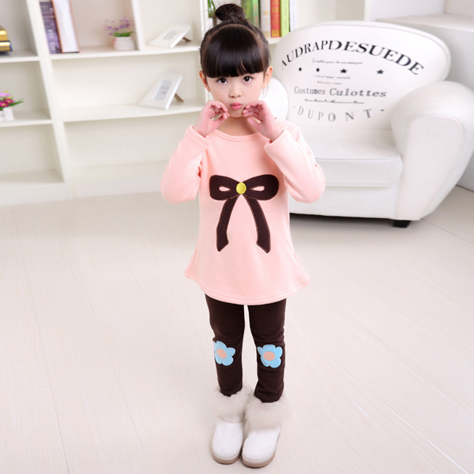 Girls Clothing Set Fashion Long Sleeve T-Shirts & Leggings 2 Pcs Tracksuits Casual Kids Sports Suits For Girl Children Clothing