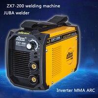 Venta caliente mini Hogar todo-cobre soldadora Portátil De Soldadura POR ARCO Inversor máquina de soldadura Eléctrica ZX7-200