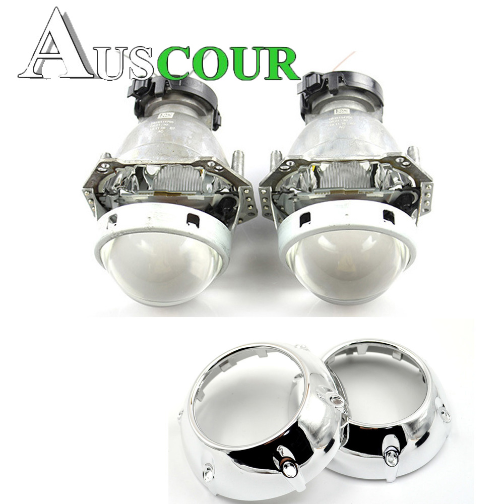 3.0 inch hella 5 Bi xenon hid Projector lens metal holder lens shrouds D1S D2S D3S D4S hid xenon kit lamp headlight car styling new m803 2 5 car motorcycle universal headlights hid bi xenon projector kit and m803 hid projector lens for free shipping