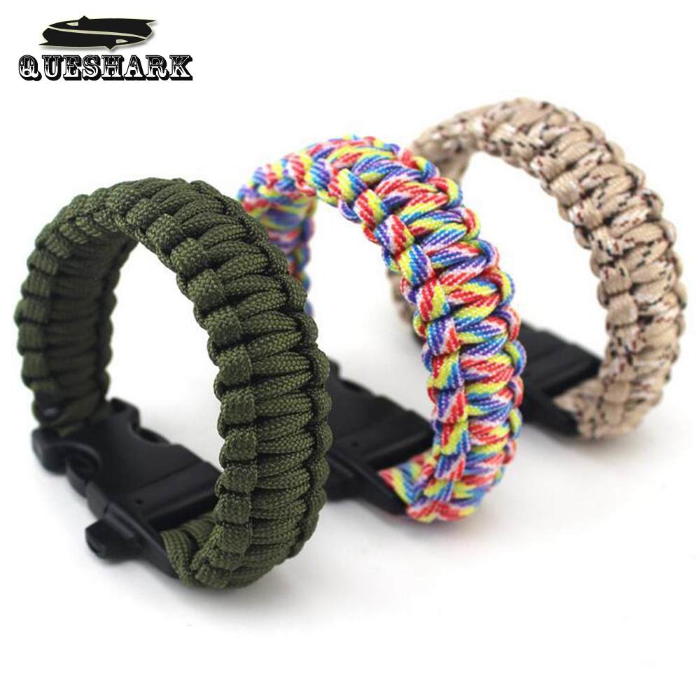 Outdoor Camping Hiking Rescue Bracelets Parachute Cord Men Emergency Braided Rope Survival Bracelet Rope