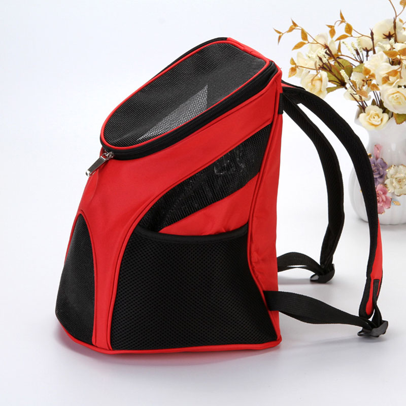 4 Colors Red Pet Dog Carriers Pet Cat Outdoor Travel Carrier Packbag Portable Zipper Mesh Backpack Breathable Dog Bags Supplies #4