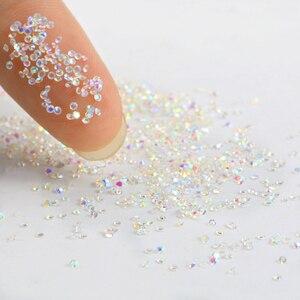 Стразы для ногтей pixie, прозрачные стразы для 3D-дизайна ногтей, 1440 шт./упак. 1,3 мм