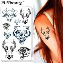 M-theory Wild Animal Choker Makeup Temporary 3d Tattoos Stciker Henna Tatto Body Arts Flash Tatoos Stickers