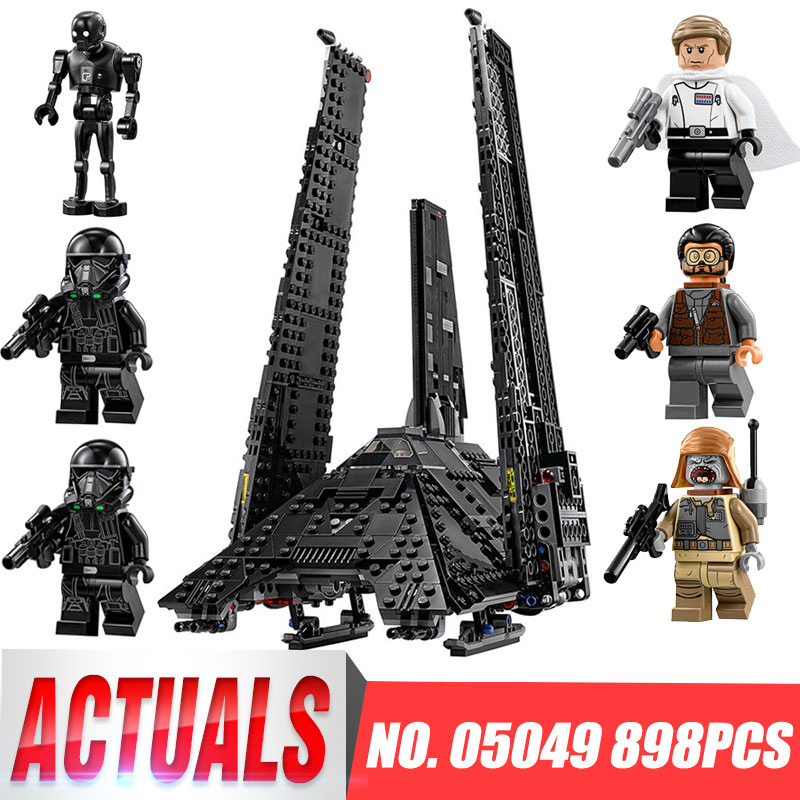 New 05049 Star Series The Krennics Imperial Shuttle Model Building Blocks Set Compatible LegoINGys 75156 Space Toys for Children lepin 22001 imperial warships 16006 black pearl ship model building blocks for children pirates series toys clone 10210 4184