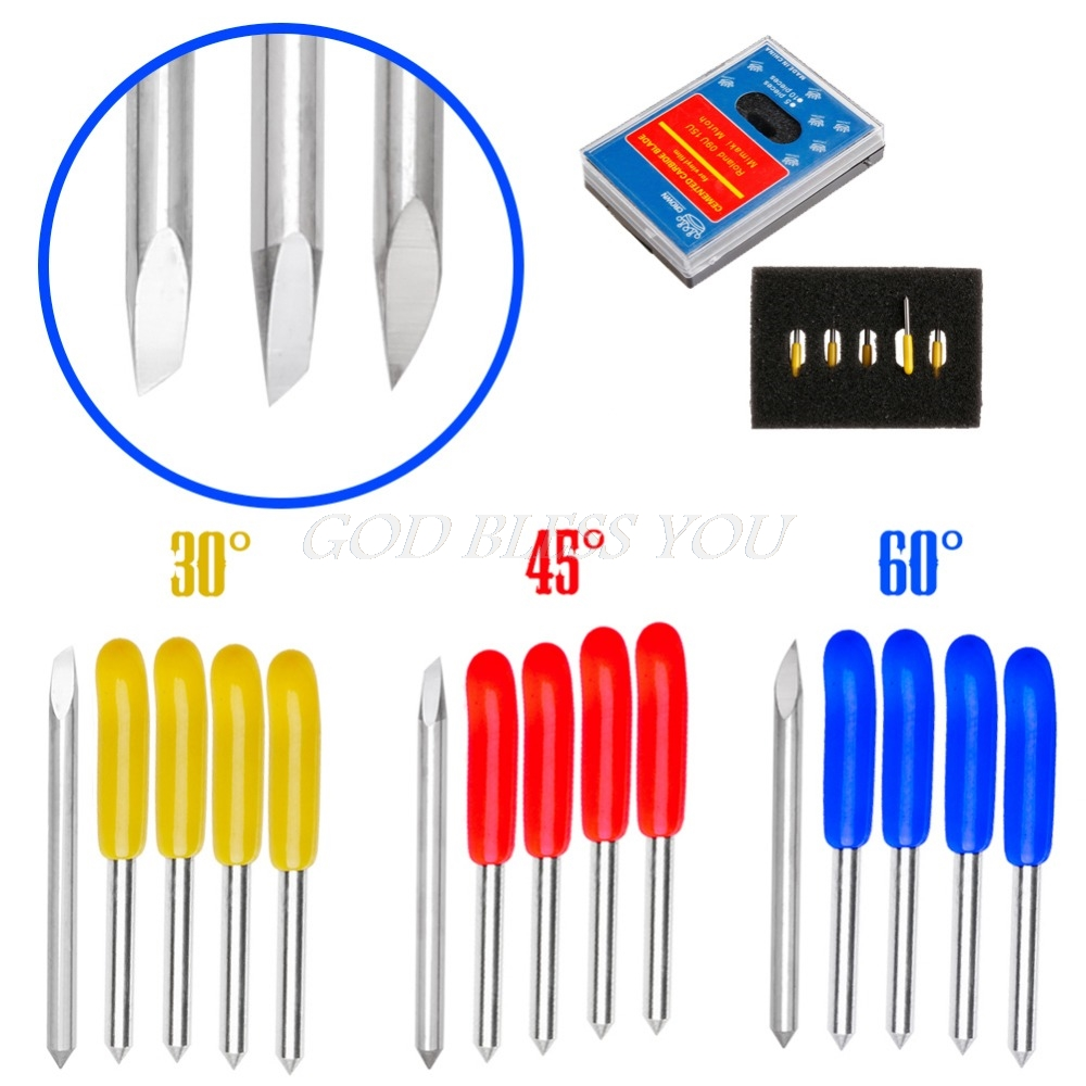 5PCS 30 45 60 Degree Blades Cutting Plotter For PCut Vinyl Cutter Blade Set