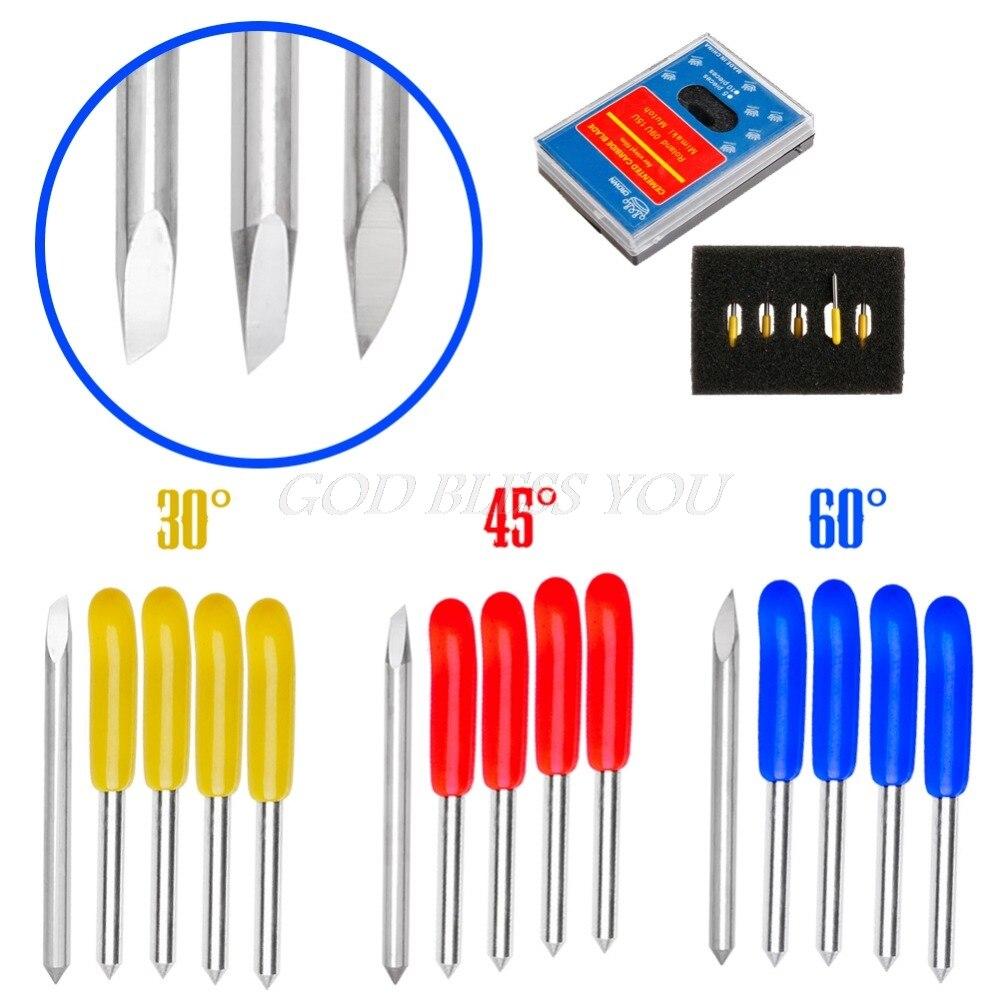 5PCS 30 45 60 Degree Blades Cutting Plotter For PCut Vinyl Cutter Blade Set