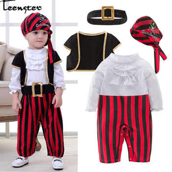 Infant Clothing Baby Outfit Lodumani Captain Pirate Style Long Sleeve Bodysuit&hat&belt&vest Newborn Toddler Boy Clothes Costume - DISCOUNT ITEM  40% OFF All Category