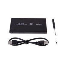 Внешний алюминиевый сплав чехол жесткий диск HDD корпус Корпуса переносного жесткого диска USB2.0 Портативный жесткий диск SATA 2,5 «SATA HDD коробка