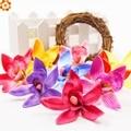 20pcs/lot 7.5cm Silk Gradient Orchid Artificial Flower Head For Wedding Decoration DIY Wreath Gift Scrapbooking Fake Flower