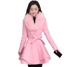 Brieuces New 2019 Autumn Winter Wool Coat Women Long Elegant Wool