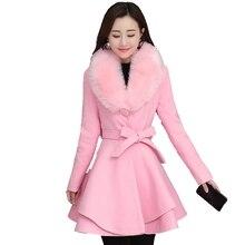 Brieuces New 2020 Autumn Winter Wool Coat Women Long Elegant Wool
