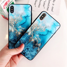 Marble Gradient Glass Phone Case For iPhone 6 6S 7 8 Plus Tempered Cases for X XS Max XR Colorful Back Cover