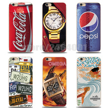 Soft Case For iPhone 4s 4 5s 5 6s 6 Plus Creativity Transparent Ultra-Thin Painting Silicone TPU Case For iphone 4s 4 5s PC-022