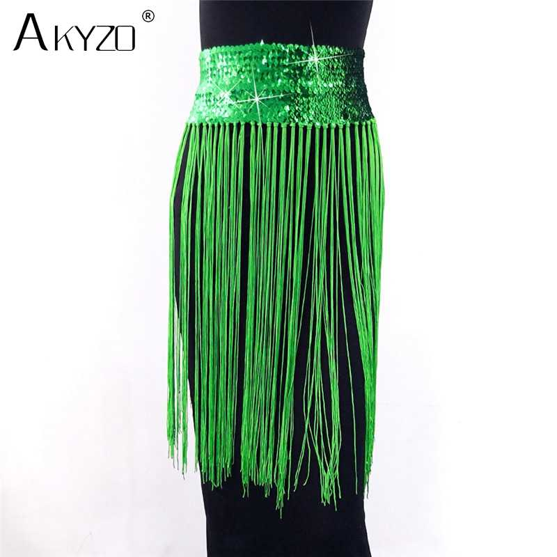 b5ad79154520 ... Festival Rave Wear Outfits Clothing Tassel Fringe Midi Skirt Women  Solid Sequin Burning Party Skirts ...