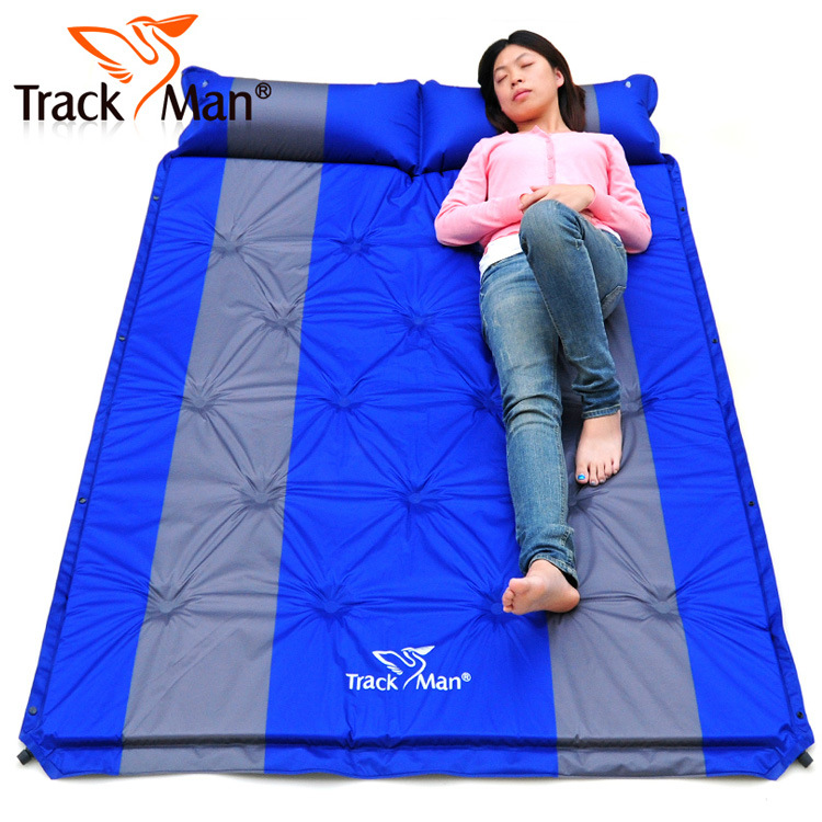 ФОТО Trackman 192*132cm new 2 persons PVC automatic inflatable mattress cushion outdoor camping mat moisture pad