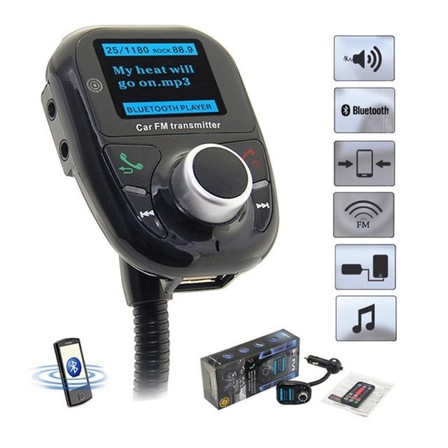 רכב MP3 נגן רכב Bluetooth FM משדר Bluetooth LCD לרכב MP3 נגן אודיו FM מודולטור רדיו SD MMC אוניברסלי אלחוטי