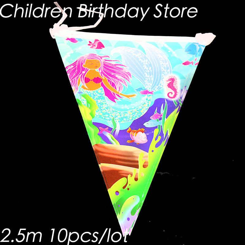 83pcs/lot Little Mermaid party sets Mermaid theme birthday party decorations The Little Mermaid theme disposable tableware sets