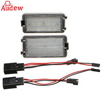 2pcs LED Tail Number License Plate Lights Lamps Error Free For Seat Ibiza 6L Ab For
