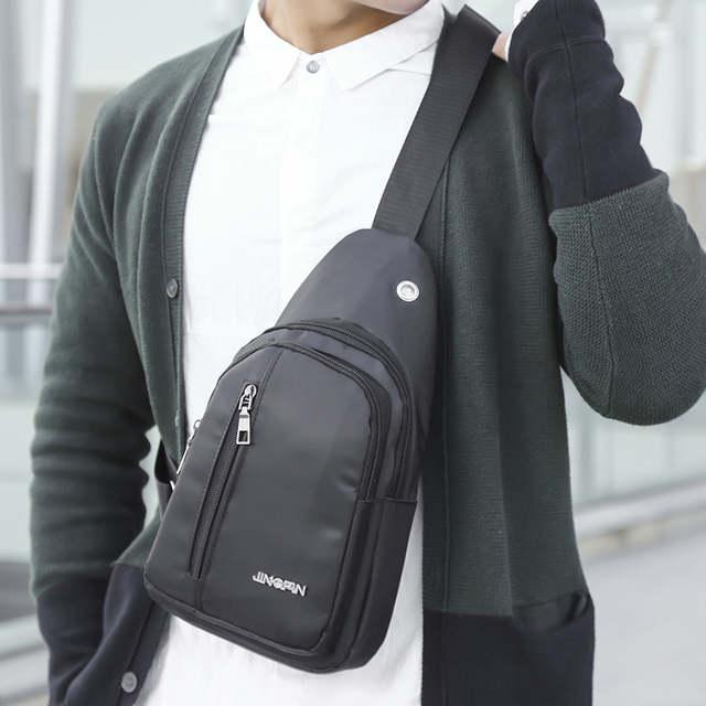 12aaf82363a 2019 New Shoulder Bags For Men Fashion Outdoor Solid Versatile Shoulder Bag  Messenger Bag Luxury 3 Colors New Canvas Chest Bag