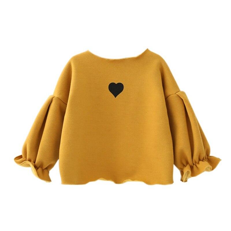 WEIXINBUY Children's Shirts for Girls School Blouse Enfant Fille Tops Love Print Infant Girl Thicken Blouses