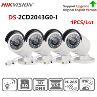 Hikvision security IP camera 4 MP IR Fixed Bullet Network Camera DS 2CD2043G0 I replace DS 2CD2042WD I home video surveillance