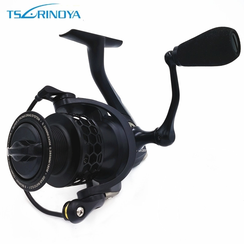 Tsurinoya NA 2000 3000 4000 5000 Spinning Fishing Reel 9BB 5.2:1 Carp Fishing Spinning Reel Saltwater Aluminum Spool Coil kastking kodiak 2016 hot sale 2000 5000 series aluminum spool superior ratio 5 2 1 spinning fishing reel spinning reel