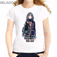 GELIAOCONG 2017 Japanese 3D Print T-shirt Short Sleeve Casual Slim Japanese Comic West Beauty Confident Loli Cute Student Shirt
